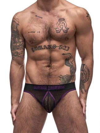 black airotic mesh enhancer thong