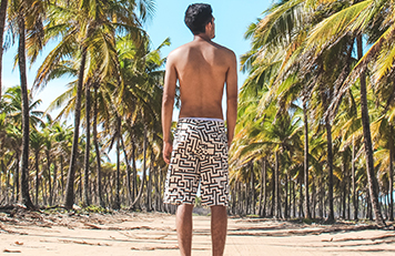 Man in swim trunks