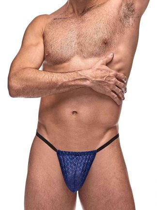 Mens mesh g string navy underwear